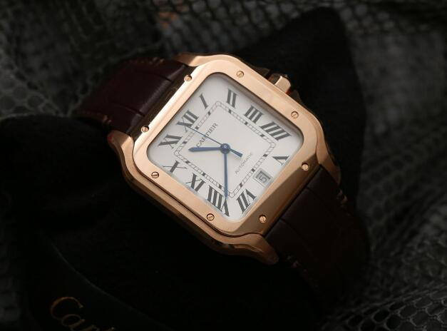 The Cartier has retained all the iconic features of the brand including the blue steel hands and Roman numerals hour markers.