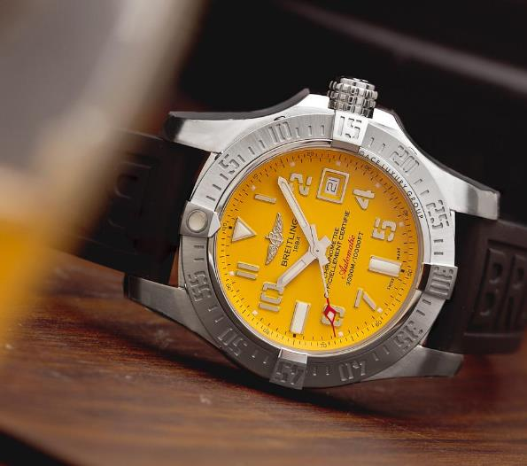 The yellow dial will draw all the attention from the public.