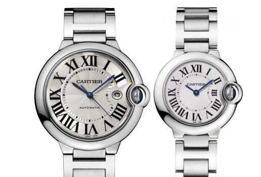 Ballon Bleu de Cartier has its own iconic features including the blue steel hands, oversized Roman numerals hour markers, unique curve of the case and so on.