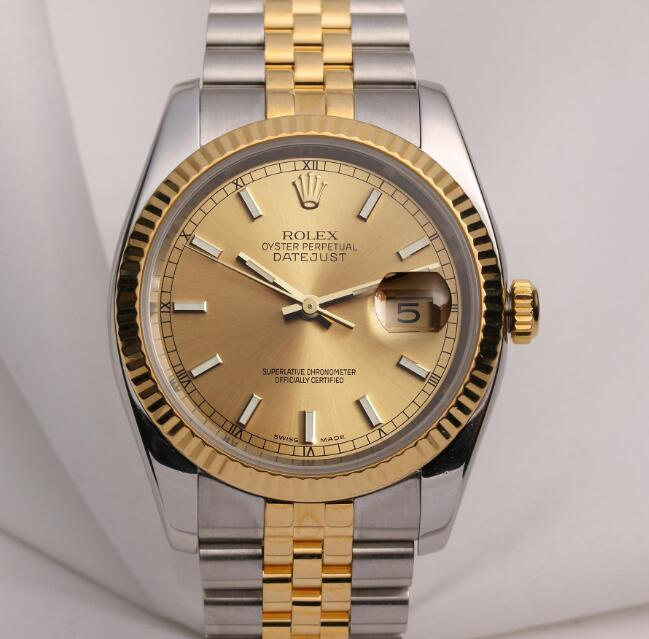 The Oystersteel and gold Rolex Datejust is very classic and elegant.