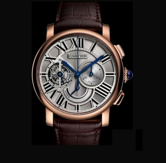The silvery dials copy watches have tourbillons.